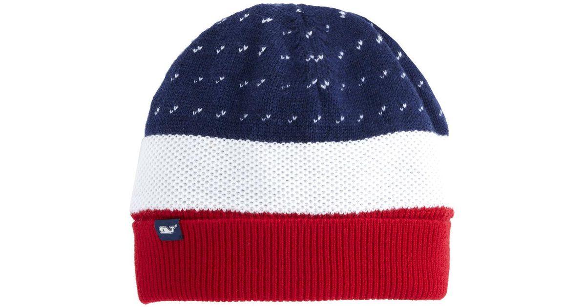 af5e11043b0aa Lyst - Vineyard Vines Americana Knit Hat for Men