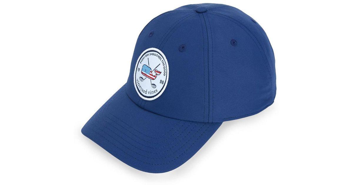 2d00325acc5 Lyst - Vineyard Vines Golf Patch Performance Baseball Hat in Blue for Men