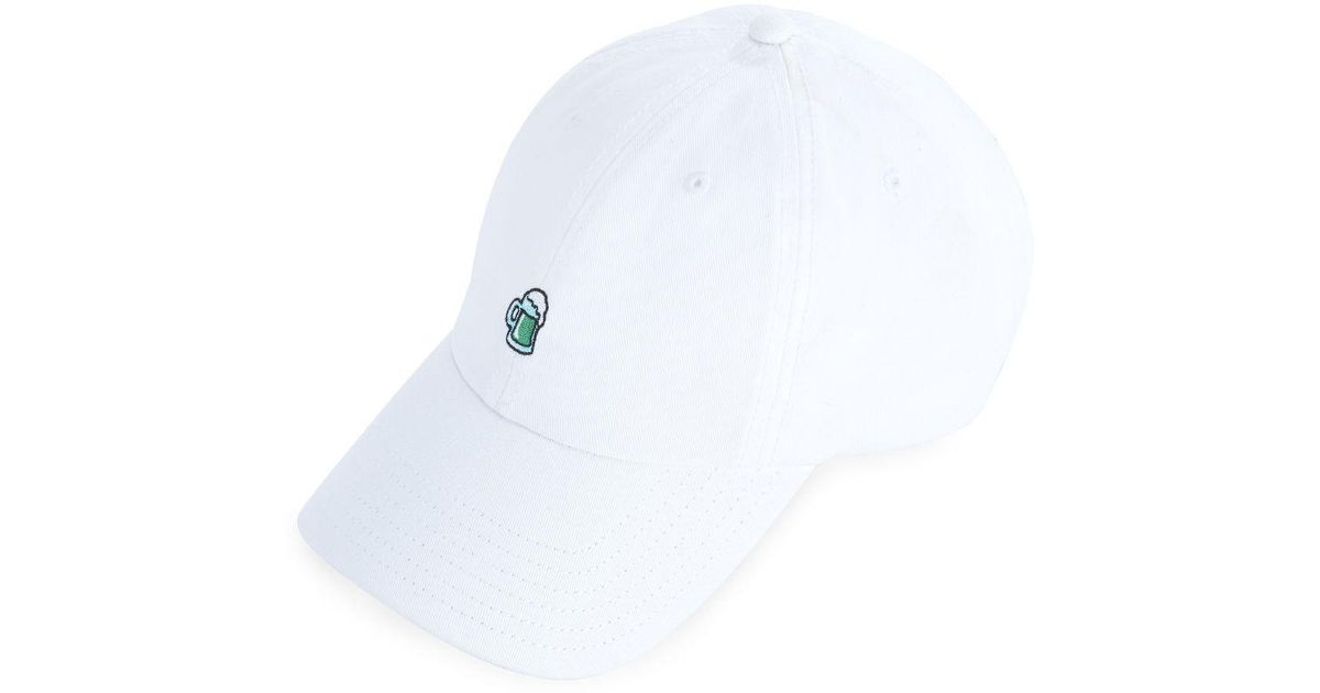 Lyst - Vineyard Vines St. Paddy s Day Icon Twill Baseball Hat in White for  Men - Save 41% 0c45248310c8