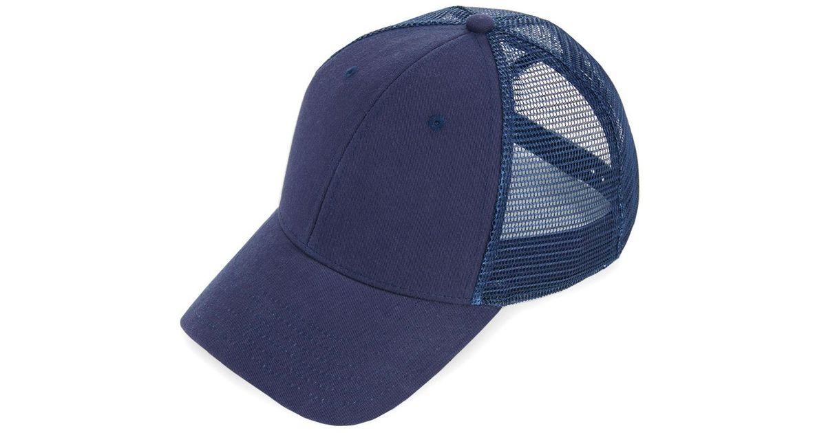 3a76cbdc Vineyard Vines Blank Trucker Hat in Blue for Men - Lyst