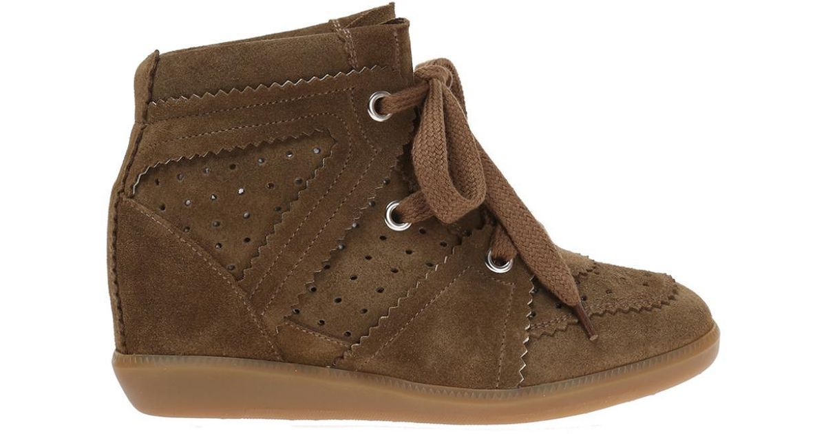 7b1b2b1c5db8 Lyst - Étoile Isabel Marant Wedge  bobby  Sneakers in Brown