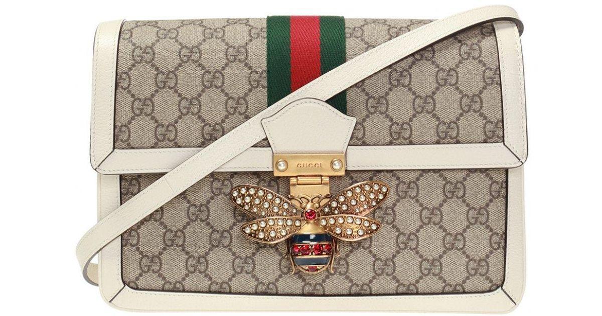 5a4f4dd76f22 Gucci 'queen Margaret' Shoulder Bag in Brown - Lyst