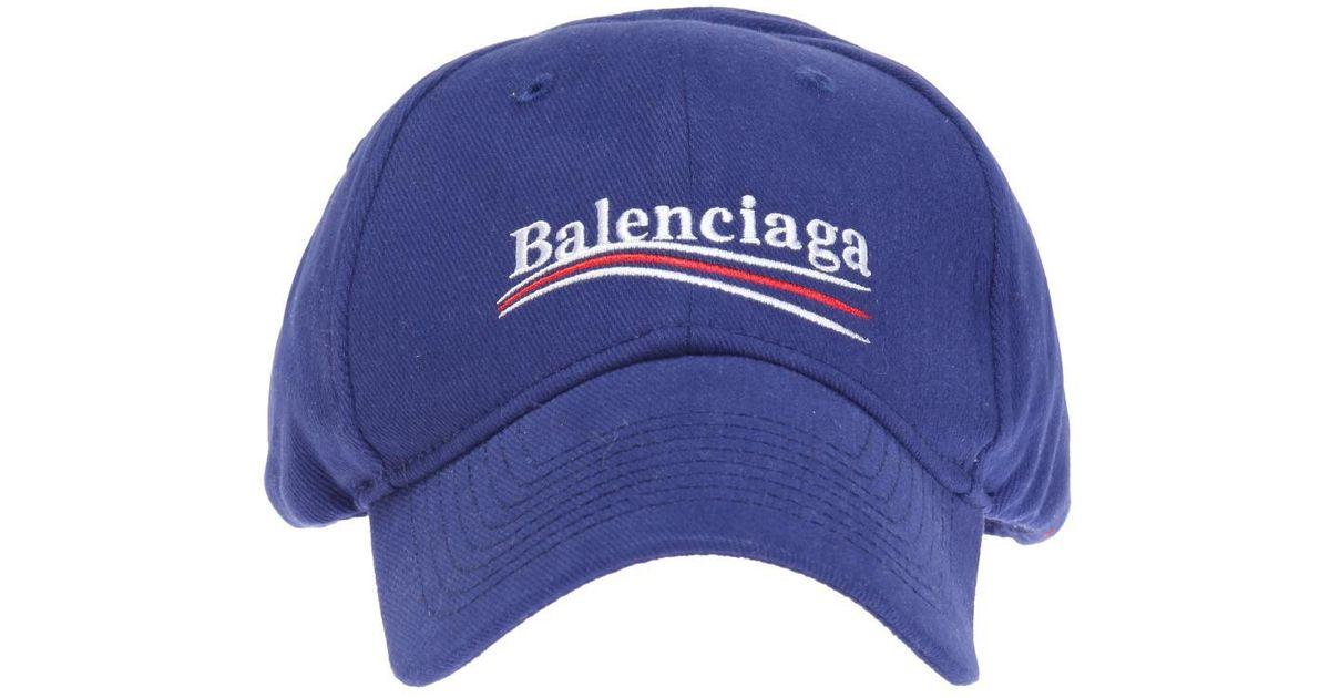 3952e1fd70f Lyst - Balenciaga Logo-embroidered Baseball Cap in Blue for Men