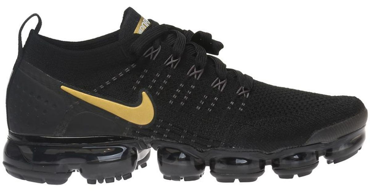 online store 588ef 96cff Nike - Black 'vapormax Flyknit 2' Sport Shoes With A Sock for Men - Lyst