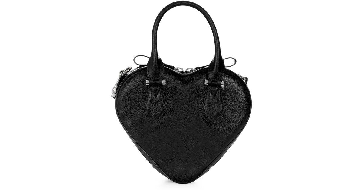 bc5334baa8f Vivienne Westwood Johanna Heart Handbag 42020028 Black in Black - Lyst