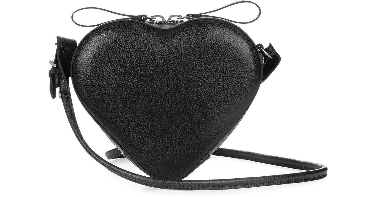 b96a1e9bbe Vivienne Westwood Johanna Heart Crossbody Bag in Black - Save 50% - Lyst