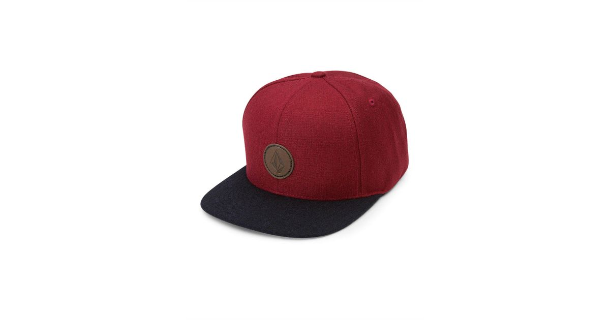 81d7e148 ... czech lyst volcom quarter fabric hat in red for men 63317 bfbdc