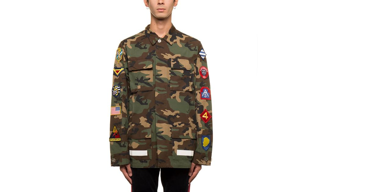 6594fac36146 Off-White C O Virgil Abloh Archive Field Jacket in Green for Men - Lyst
