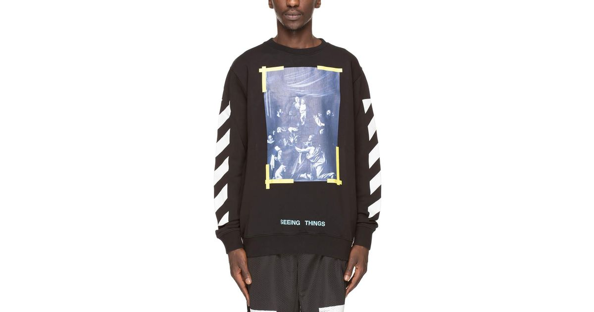 a10b66aeb Lyst - Off-White c/o Virgil Abloh Caravaggio Sweatshirt in Black for Men