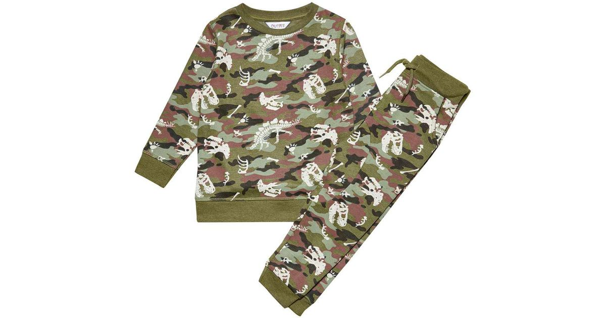 322ea52b5bdd Wallis **boys Camouflage Sweatshirt And Joggers Set (18 Months - 6 Years)  in Green for Men - Lyst