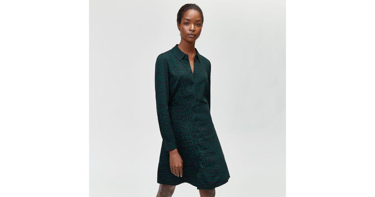b215da3a82cb Warehouse Animal Print Shirt Dress in Green - Lyst
