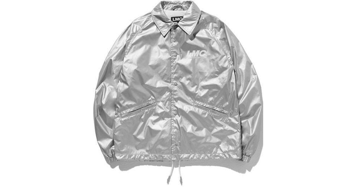 9d692ac5 W Concept Lmc Reflective Logo Coach Jacket Silver in Metallic for Men - Lyst