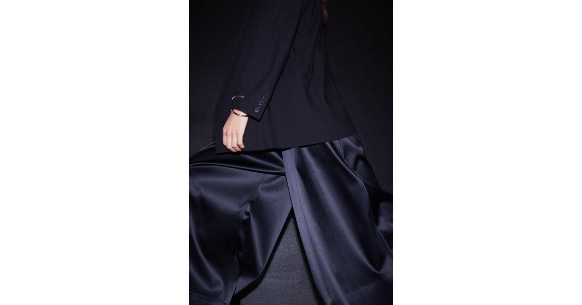 Lyst Madison Wide Black Weekday In Trousers Satin NnmOwv80