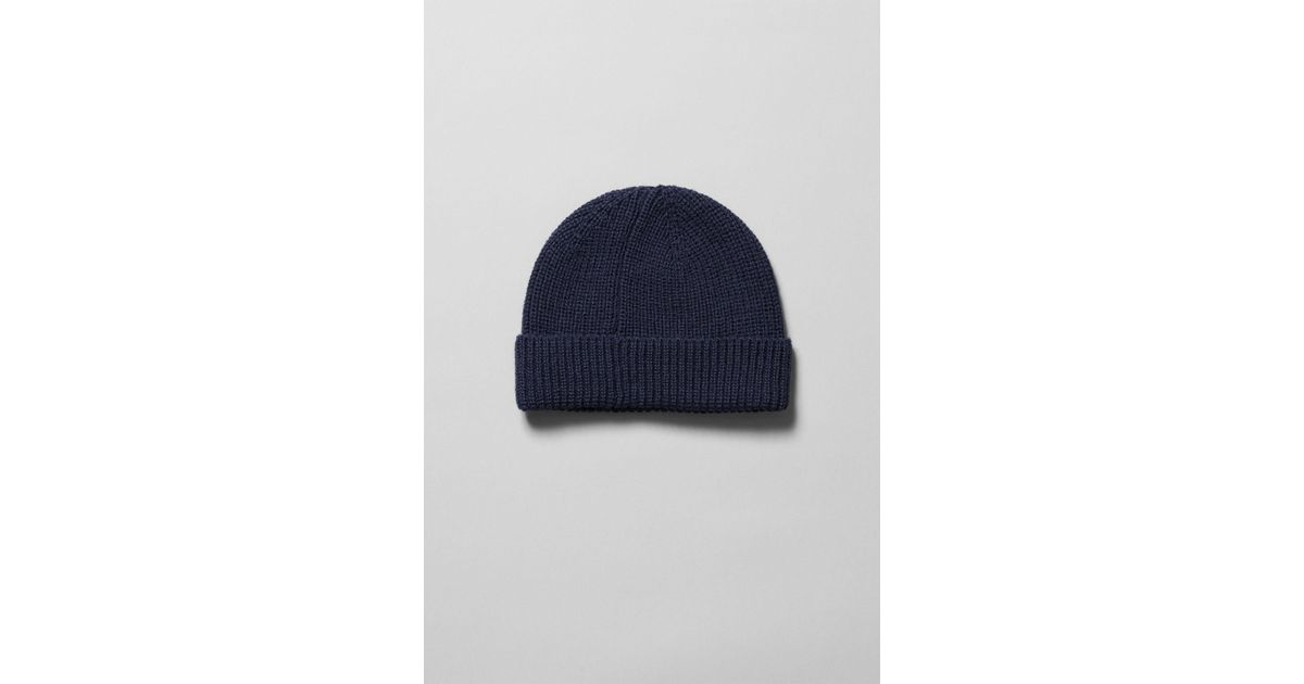 7ce160029 Weekday Frank Beanie in Blue for Men - Lyst