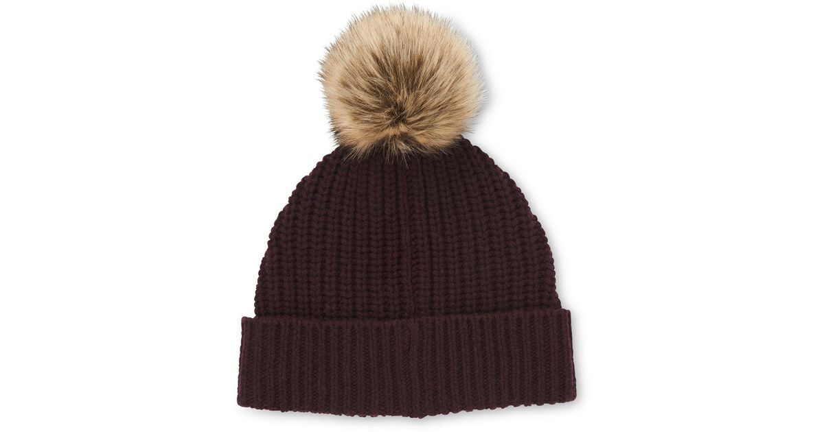 09c9112129a Lyst - Whistles Chunky Marl Pom Hat