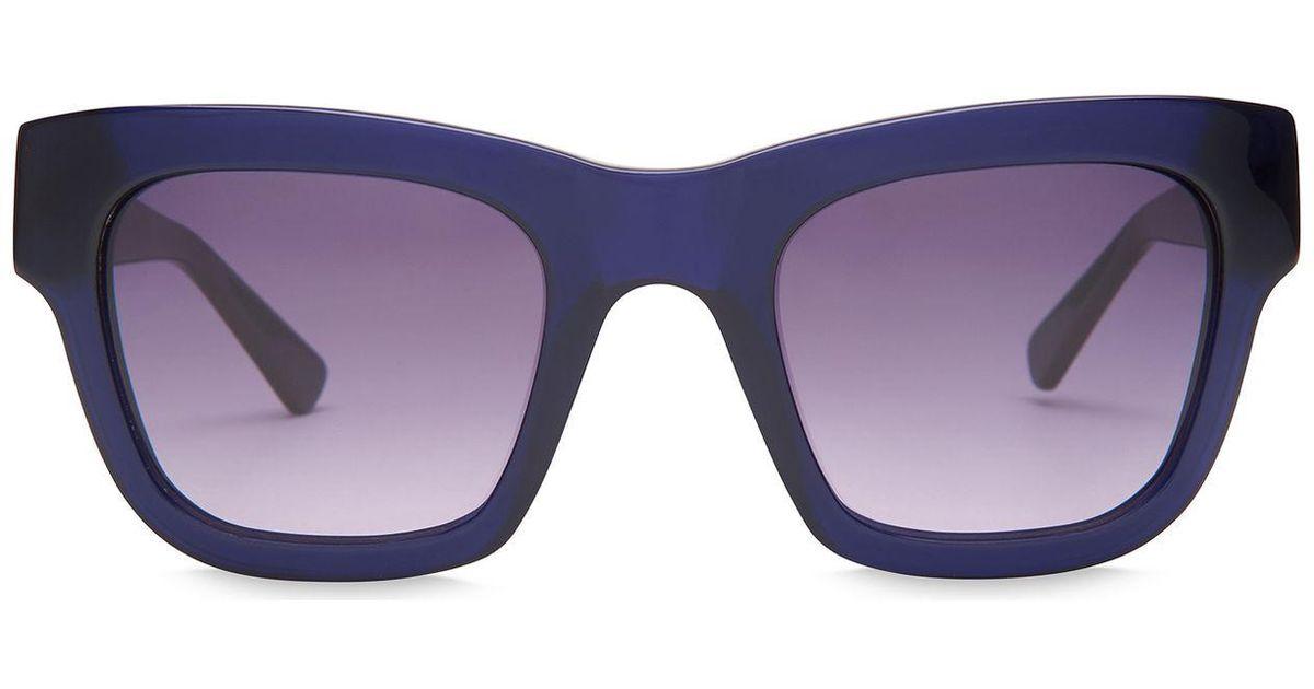 12720e845d Whistles Lauren Oversized Wayfarer in Blue - Lyst