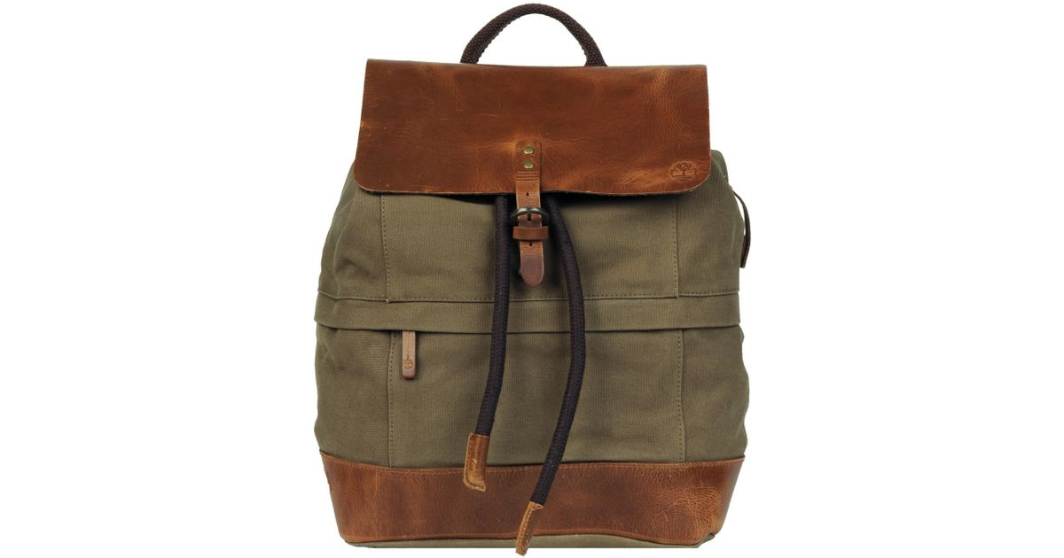 07d1947e6665 Lyst - Wilsons Leather Timberland Nantasket Canvas And Leather Backpack in  Green for Men