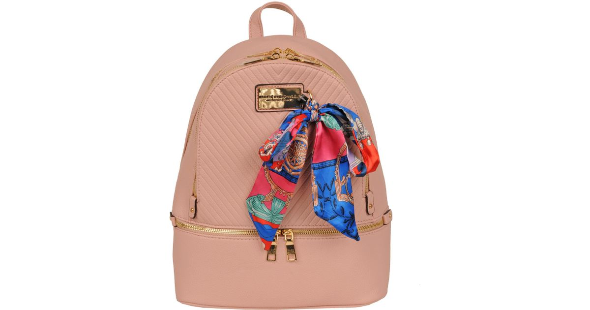 f221f49c6f7b Lyst - Wilsons Leather Marc New York Chevron Quilted Faux-leather Backpack  W  Scarf in Pink