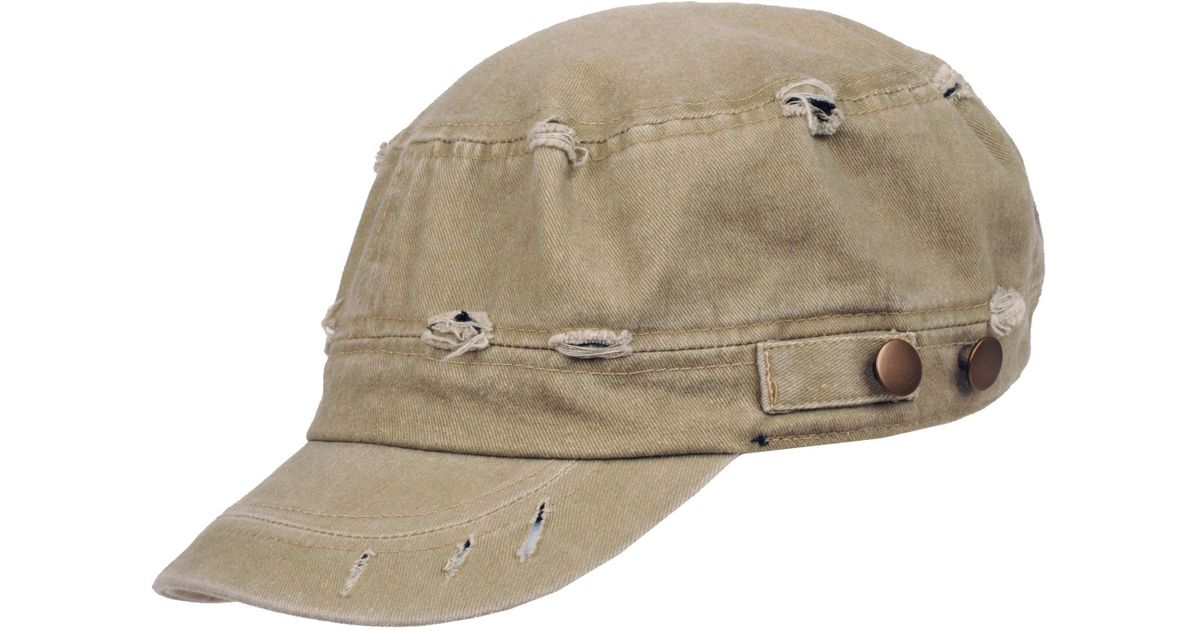 23cf0d12b14 Lyst - Wilsons Leather Cotton Distressed Cadet Hat in Natural for Men