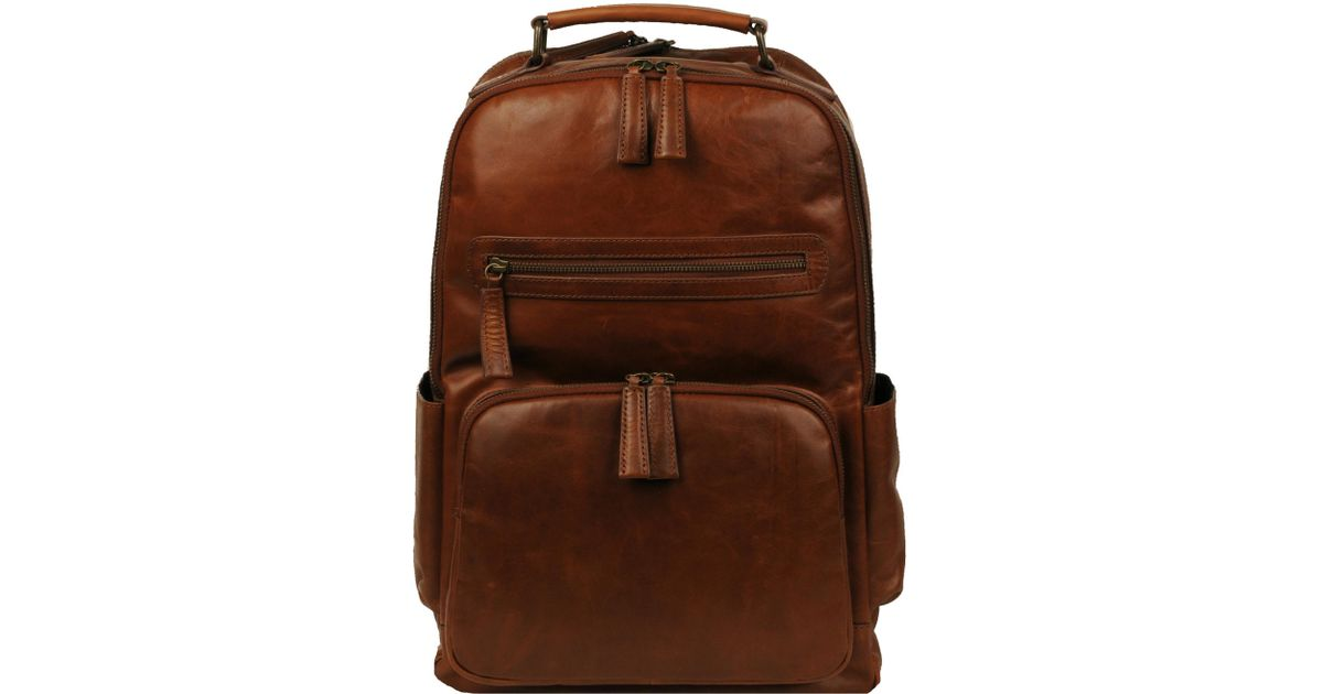 a10c9f854a3c Wilsons Leather - Brown Vintage Leather Crunch Backpack for Men - Lyst