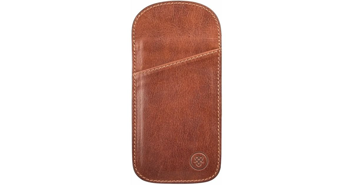 fc87d8037b4 Lyst - Maxwell Scott Bags The Tan Rufeno Slim Leather Glasses Case in Brown  for Men