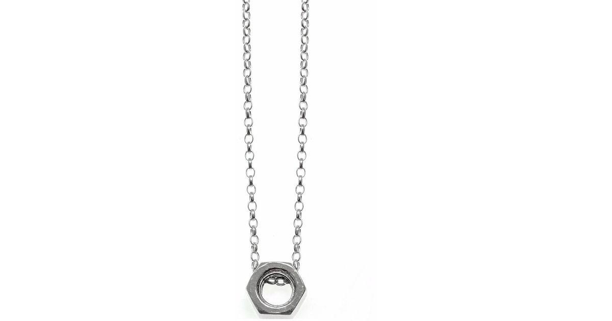 Kim keohane sterling silver nut pendant in metallic lyst aloadofball Gallery