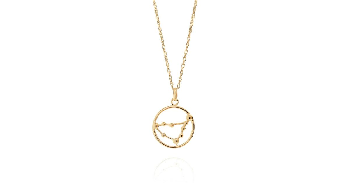Lyst Yasmin Everley Capricorn Astrology Necklace In 9ct Gold In
