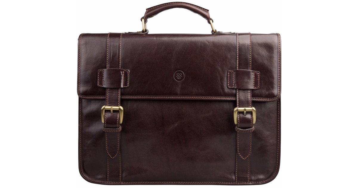 b478baae36 Lyst - Maxwell Scott Bags The Micheli Mens Leather Backback Briefcase  Chocolate Brown in Brown for Men