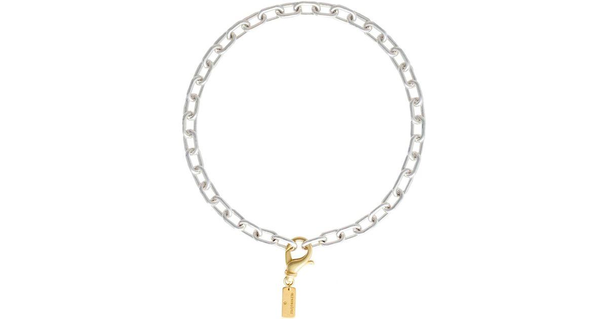 Glenda Lopez 18kt Gold Dipped Empty Signet Necklace XyGBVV