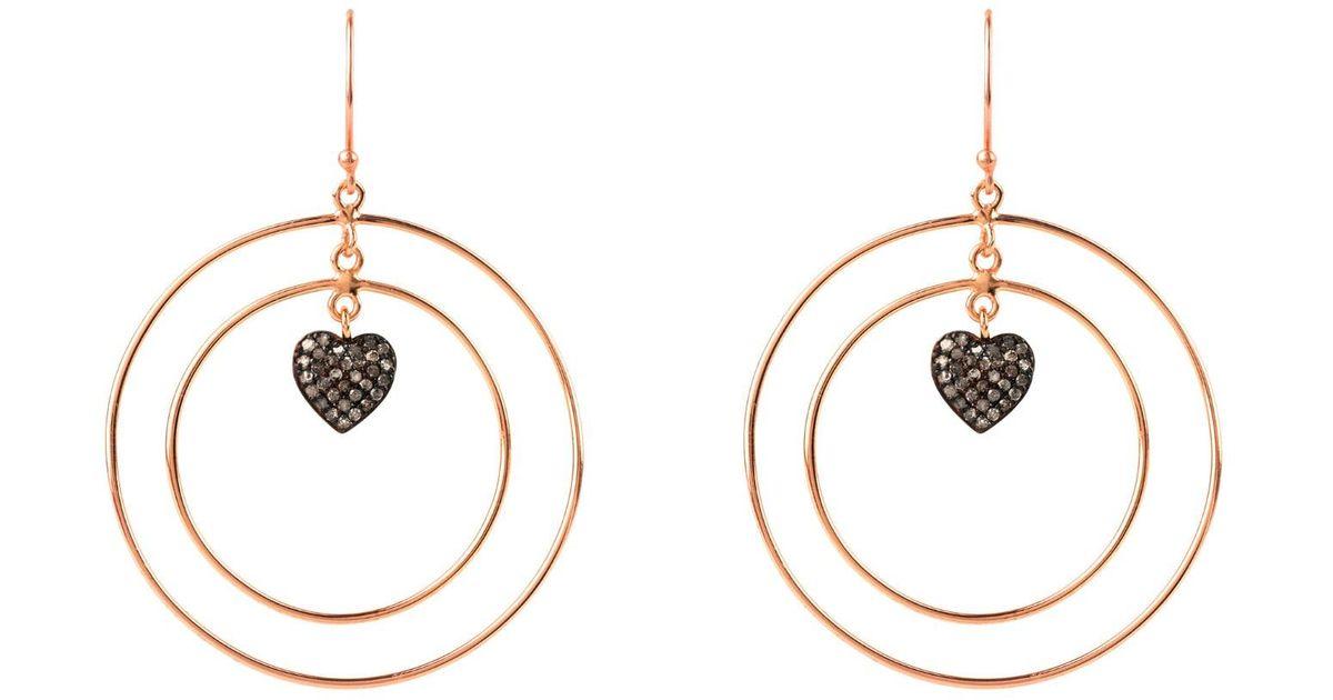 Latelita London Diamond Double Hoop Heart Earring h7p2ZDRe