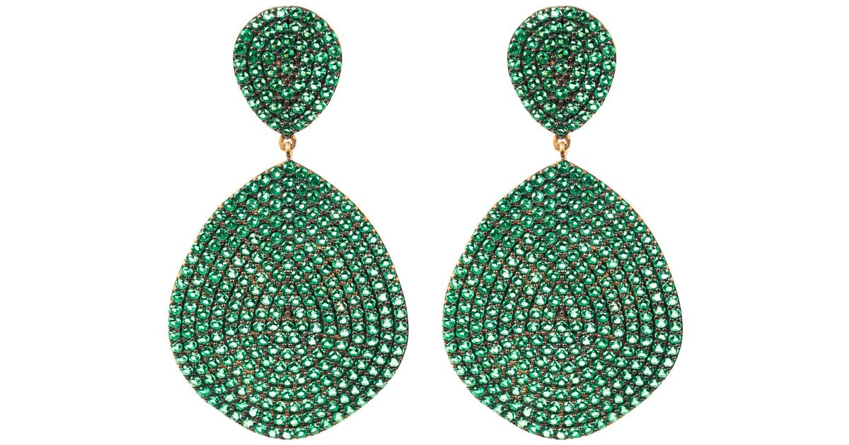 Latelita London Monte Carlo Earring Gold Emerald Zircon GoeYdeJYpU