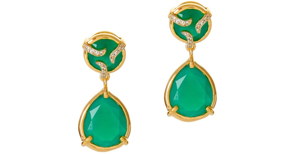 Lyst Alexandra Alberta Yosemite Green Chalcedony Earrings In Save 10 138248847926263