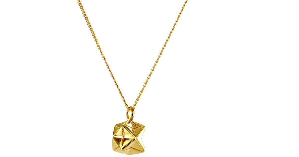 Origami Jewellery Sterling Silver & Gold Mini Magic Ball Origami Necklace TJsHWAZHtL
