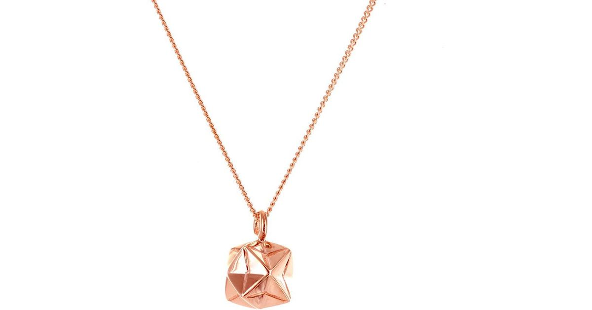 Origami Jewellery Sterling Silver & Gold Mini Magic Ball Origami Necklace mTIwI5