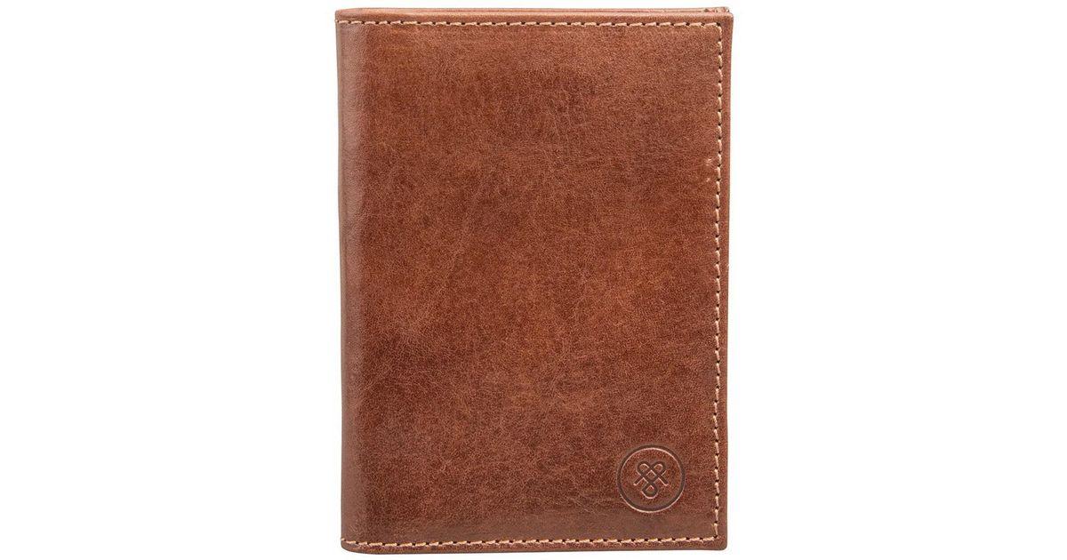 2888cb122e68 Maxwell Scott Bags Luxury Italian Leather Men's Passport Cover Prato  Chestnut Tan in Brown for Men - Lyst