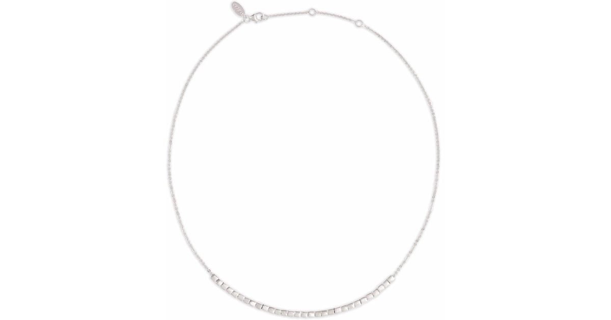 Neola Cube Silver Necklace RXls9