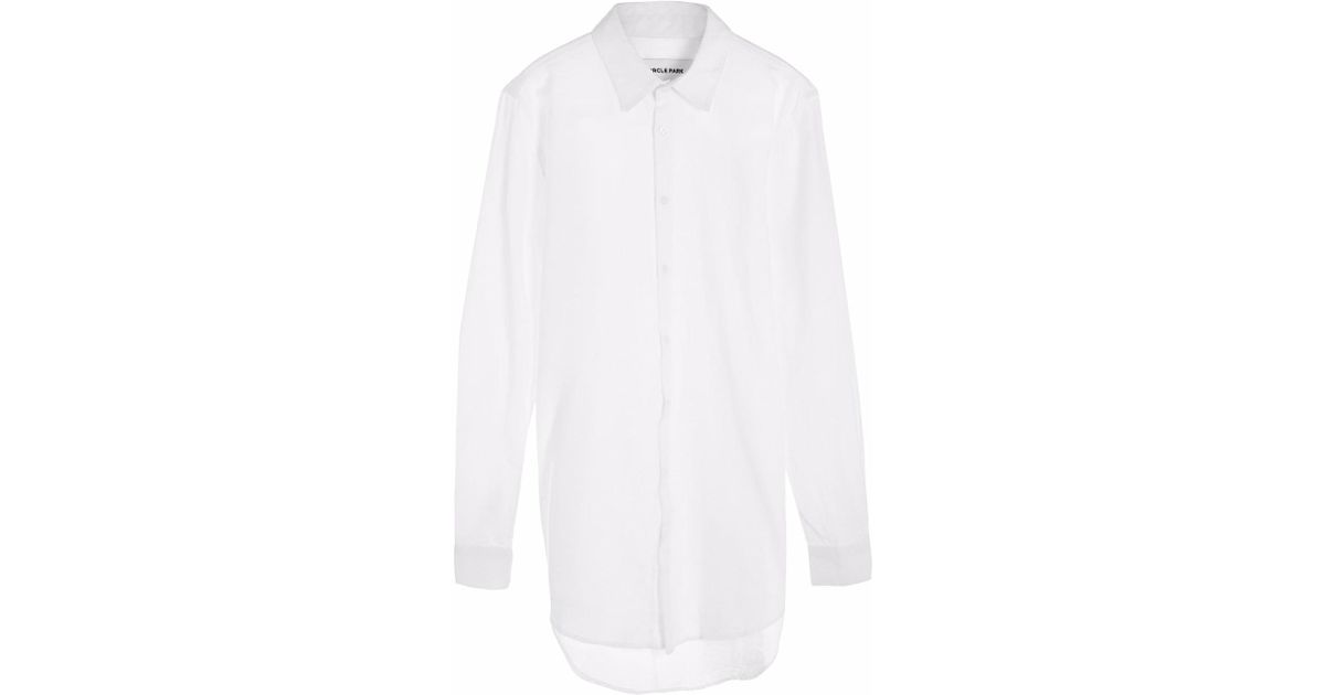 b54c4a2c238 Circle Park Women's Tall Button Up White Shirt in White - Lyst
