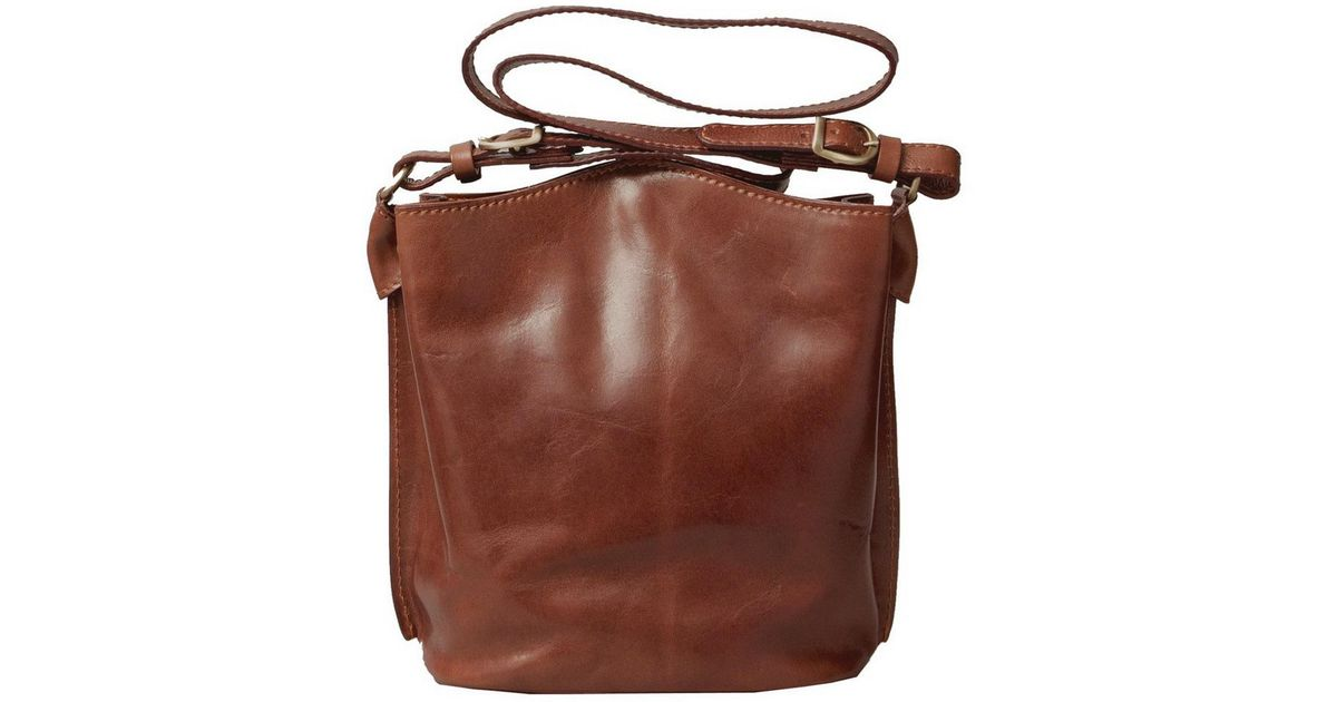 Lyst - Maxwell Scott Bags Luxury Italian Leather Women s Tote Bucket Bag  Palermo Chestnut Tan in Brown 66fa3ad0be7bb
