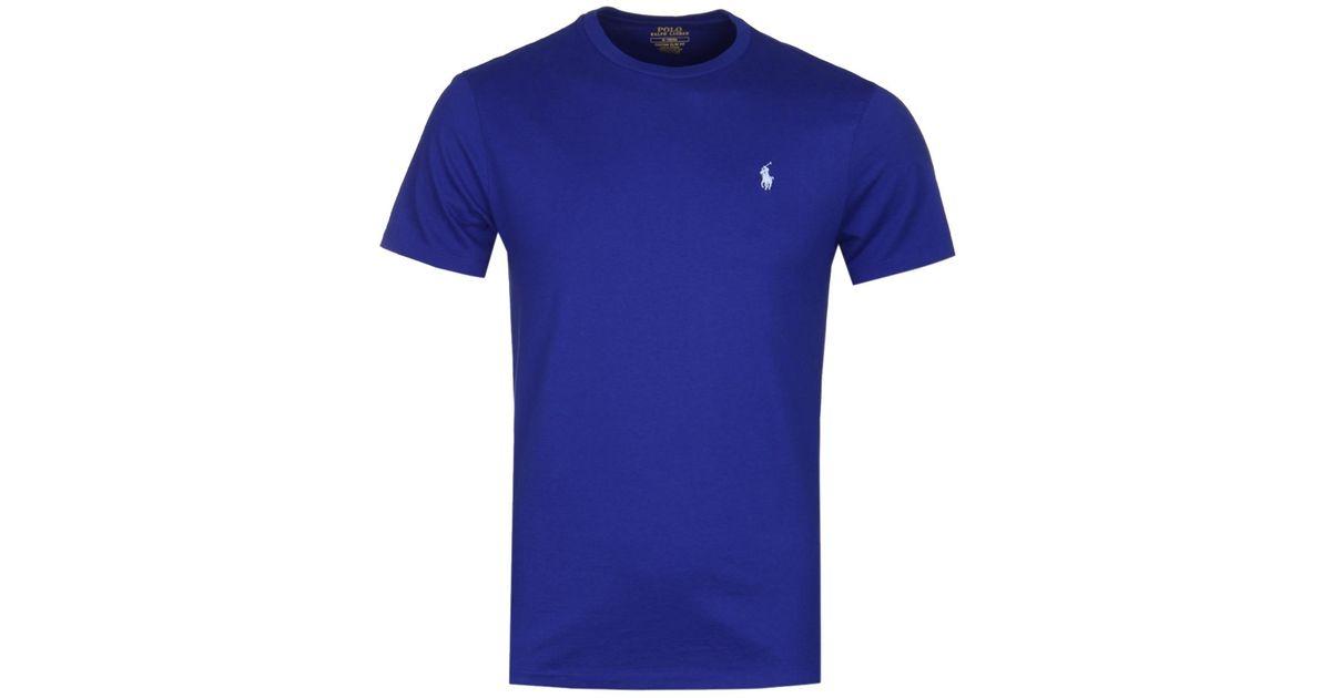 f848fd8d0 Lyst - Polo Ralph Lauren Custom Slim Fit Royal Blue T-shirt in Blue for Men