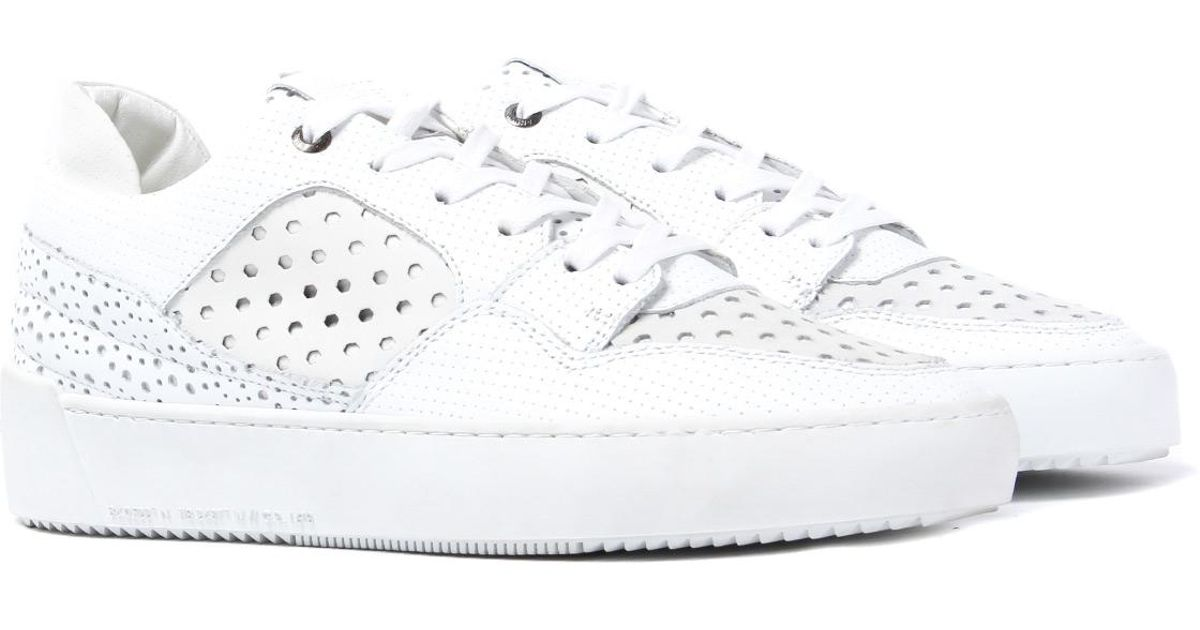 fe15d4a4c53c Lyst - Android Homme White Omega Low Perforated Trainers in White for Men