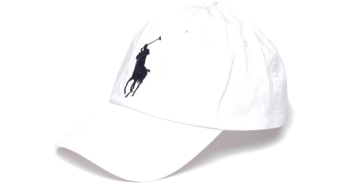 d5201386 Lyst - Polo Ralph Lauren Cotton Chino Baseball Cap in White for Men - Save  41%