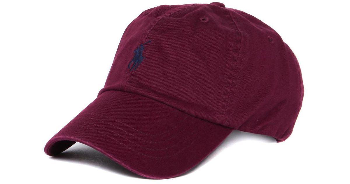 3a25750ddc Polo Ralph Lauren Fall Burgundy Classic Sport Cap in Purple for Men - Lyst