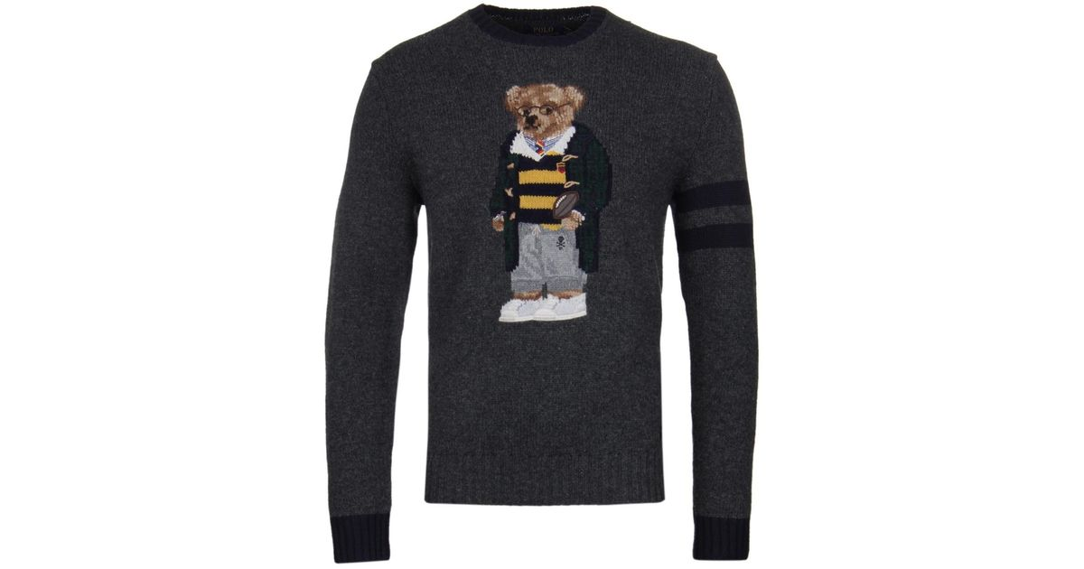 81898de9a73 Polo Ralph Lauren University Bear Grey Jumper in Gray for Men - Save 37% -  Lyst