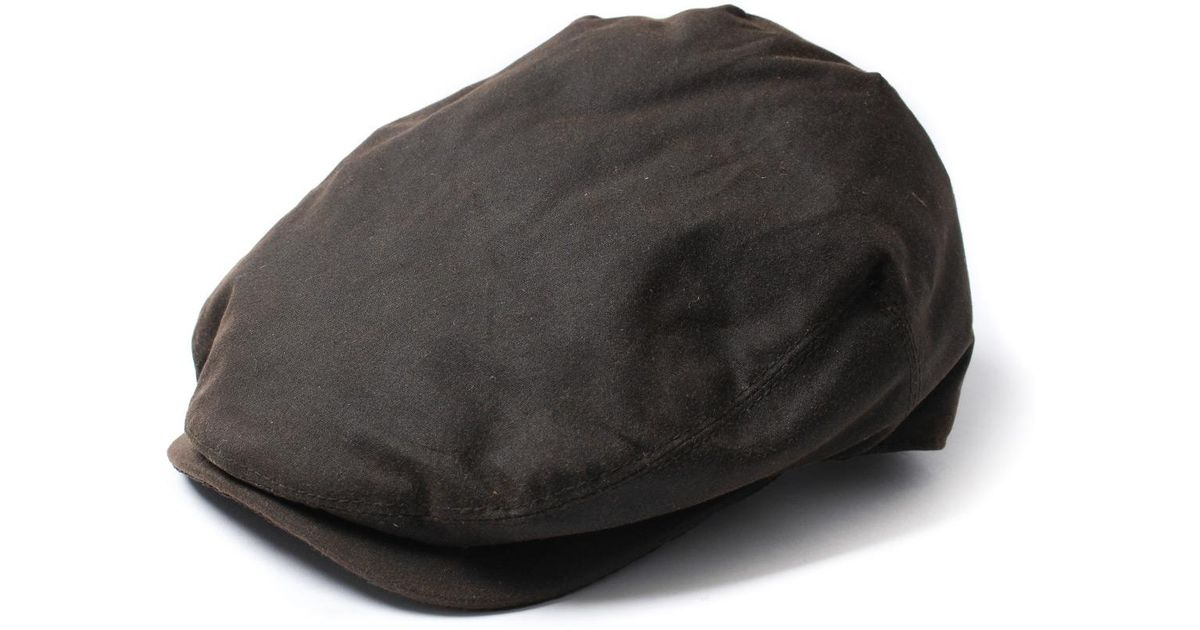 Lyst - Barbour Olive Green Boyd Adjustable Waxed Cotton Flat Cap in Green  for Men a62828320bf