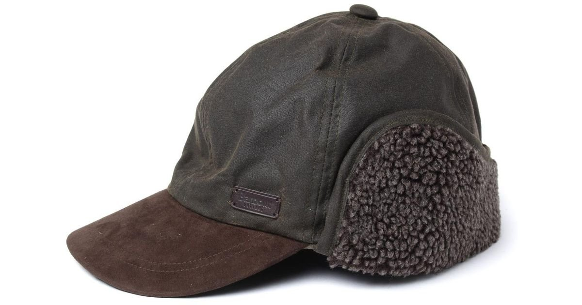 f598892816c Lyst - Barbour Olive Astwell Trapper Hat in Green for Men