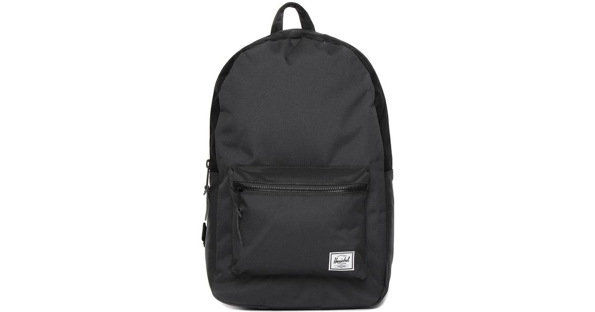 fcd185fd34 Lyst - Herschel Supply Co. Settlement Dark Shadow Black Canvas Backpack in  Black for Men