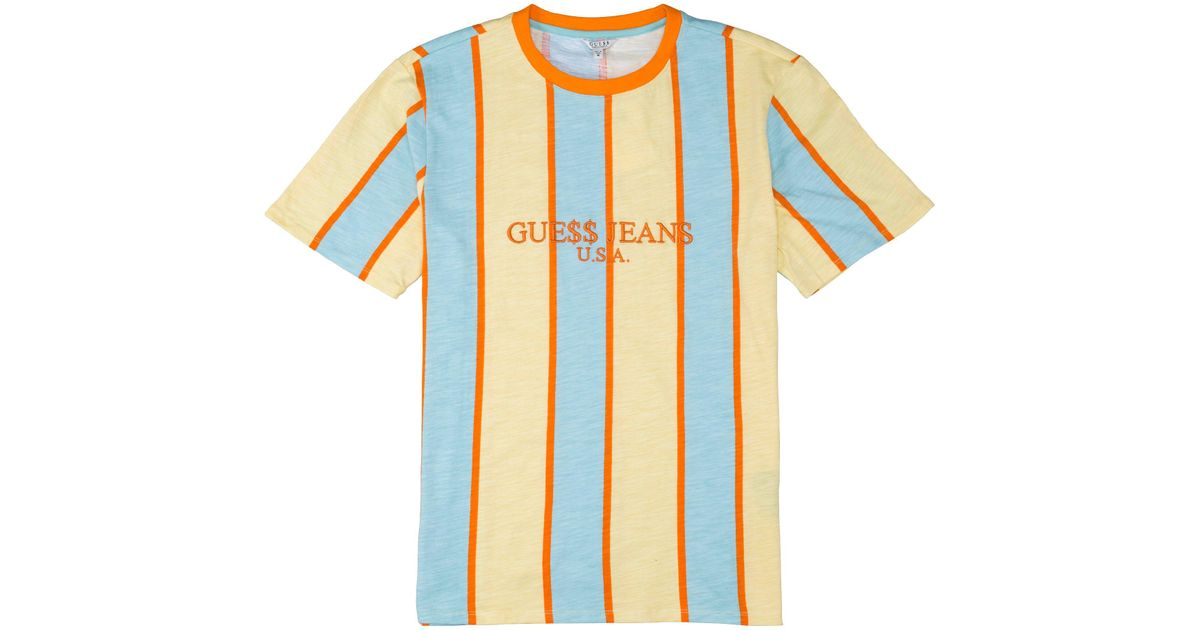 b6dfc3189f Guess A$ap Usa Stripe T-shirt in Blue for Men - Lyst