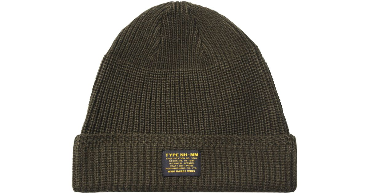 c53c27fae40 Lyst - Neighborhood Jeep Beanie in Green for Men - Save 27%