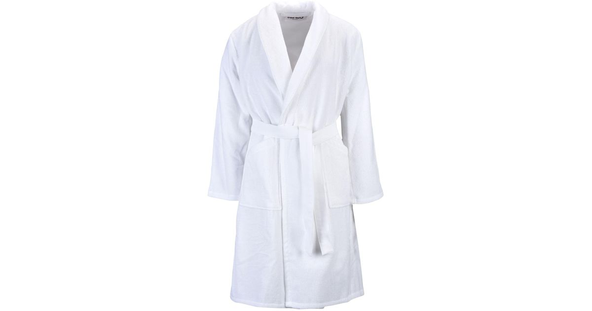 KENZO Towelling Dressing Gown in White for Men - Lyst 519d18d02