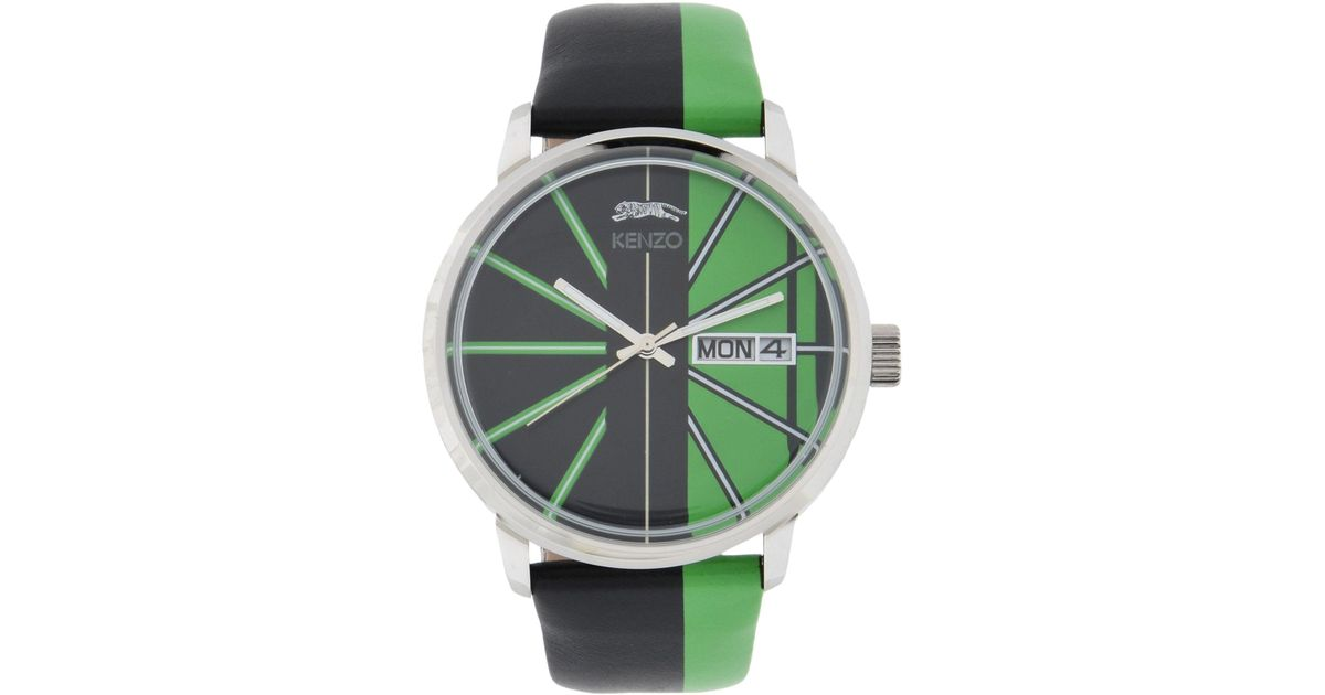 80c39a679e3 ... sale retailer a80b0 92285 Lyst - Kenzo Wrist Watches in Green for Men  ...